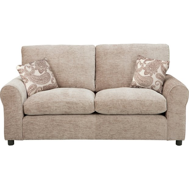 Buy home tabitha 2 seater fabric sofa bed mink at argos for Sofa bed outlet uk