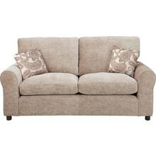 HOME Tabitha 2 Seater Fabric Sofa Bed - Mink