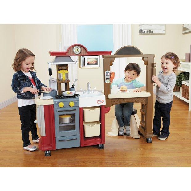 Buy little tikes kitchen restaurant red at for Kitchen set argos