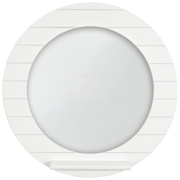 Buy innova beachcomber round wall mirror white at argos for Where to find mirrors