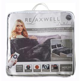 Relaxwell By Dreamland Intelliheat Faux Fur Heated Throw
