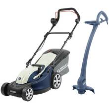 Spear & Jackson 34cm Corded Lawnmower 1300W & Trimmer - 350W