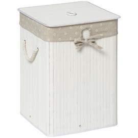 Premier Housewares Kankyo 62L Square Laundry Hamper - White