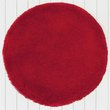 more details on ColourMatch Snuggle Shaggy Circle Rug - Poppy Red.