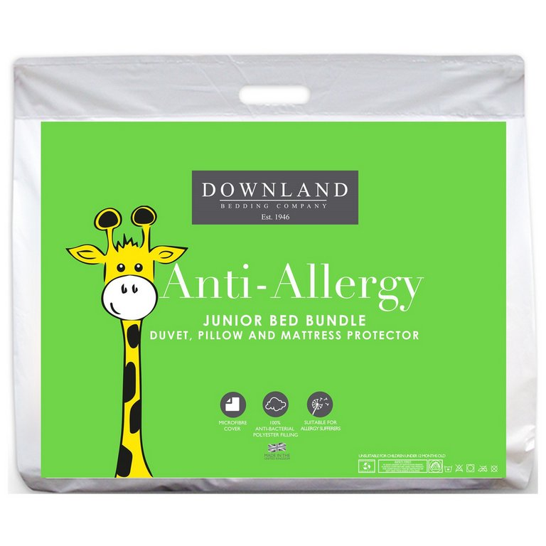 Buy Downland Junior Microfibre Anti Allergy Bedding Bundle