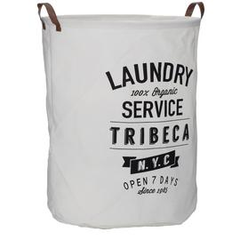 Premier Housewares Tribeca Laundry Bag - White.