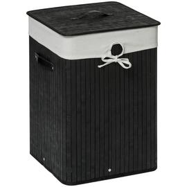 Premier Housewares 62 Litre Square Laundry Hamper - Black