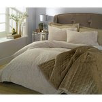 more details on Heart of House Torella Gold Jacquard Bedding Set - Double.