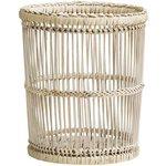more details on Premier Housewares Rustic Rattan Bamboo Waste Bin - White.