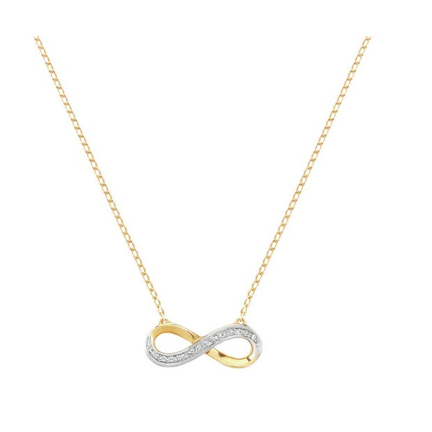Buy 9ct Rose Gold Diamond Accent Infinity Necklace at