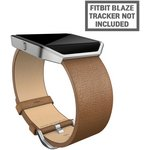 more details on Fitbit Blaze Leather Accessory Band Camel - Small