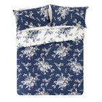 more details on Collection Lottie Blue and Cream Bedding Set - Double.