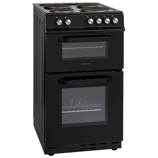 buy servis ste50b electric cooker black at. Black Bedroom Furniture Sets. Home Design Ideas
