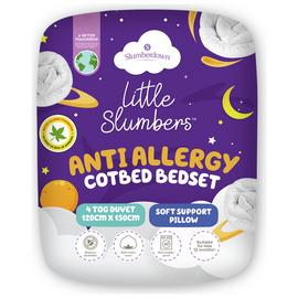 Little Slumbers Allergy Protection 4 Tog Bedset - Cotbed