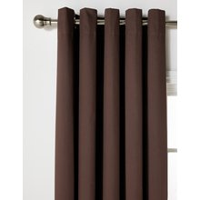 HOME Blackout Thermal Curtains - 168x183cm - Chocolate