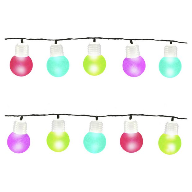Buy Gardenkraft 50 Multi Coloured LED String Lights at Argos.co.uk - Your Online Shop for ...