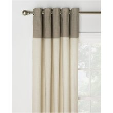 HOME Dublin Unlined Eyelet Curtains - 229 x 229cm - Natural