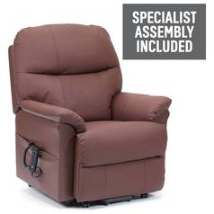 Lars Riser Recliner Dual Motor Leather Chair - Burgundy