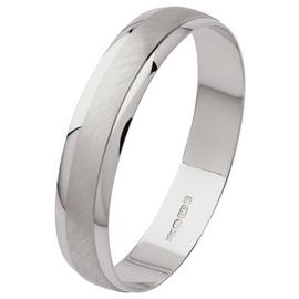 Revere 9ct White Gold Satin Finish Wedding Ring