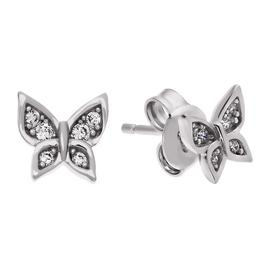 Revere Sterling Silver Cubic Zirconia Butterfly Earrings