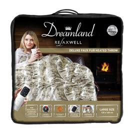 Dreamland Relaxwell 16232 Intelliheat Luxury Heated Faux Fur Throw in Alaskan Husky Best Price and Cheapest