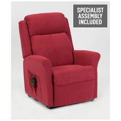 Memphis Riser Recliner Chair with Dual Motor - Berry