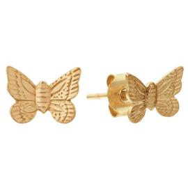 Revere 9ct Yellow Gold Butterfly Stud Earrings