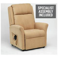 Memphis Riser Recliner Chair with Dual Motor - Biscuit