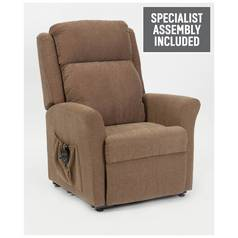 Memphis Riser Recliner Chair with Dual Motor - Mushroom