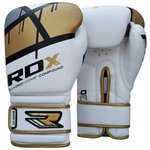 more details on RDX Synthetic 12oz Leather Boxing Gloves -  Gold