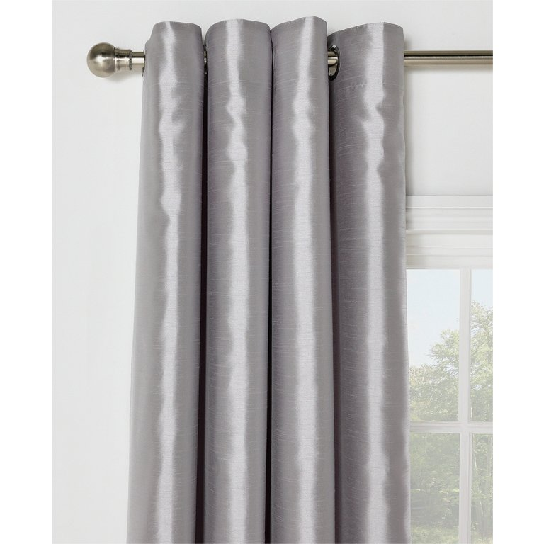 Buy Collection Ella Faux Silk Lined Curtain Set X Silver At Argos Co Uk Your Online Shop For Curtains Blinds Curtains And Accessories