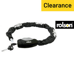 Rolson Black Cylinder Chain Bike Lock - 0.9m