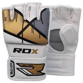 RDX Leather X Grappling Gloves Gold - Medium/Large