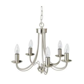 Argos Home Twirl 5 Light Twist Chandelier - Brushed Chrome
