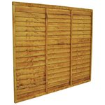 more details on Forest Tradelap Fence Panel - Pack of 8.