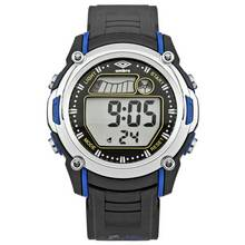 Umbro LCD Black Plastic Strap Watch