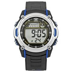 Umbro Black Plastic Strap LCD Watch