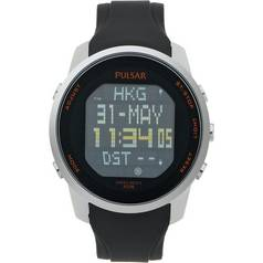 Pulsar Men's Digital Silicone Strap Oversize Digital Watch