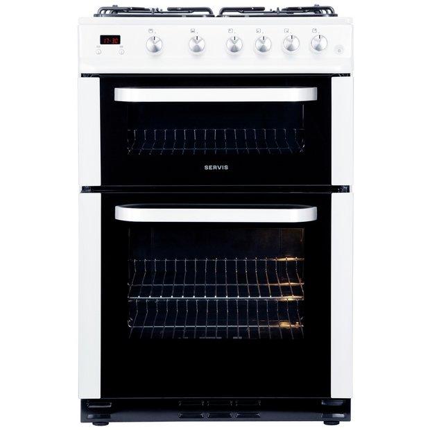 buy servis stg60w gas cooker white freestanding. Black Bedroom Furniture Sets. Home Design Ideas