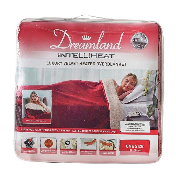 Buy Relaxwell By Dreamland Intelliheat Sherpa Wine Heated