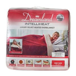 Relaxwell by Dreamland Intelliheat Sherpa Wine Heated Throw