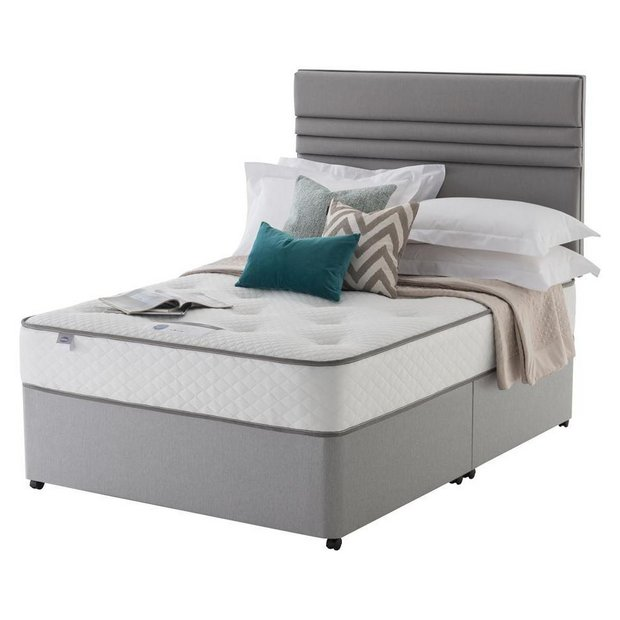 Buy silentnight levison pocket orthopedic divan kingsize at your online shop for Argos single divan beds