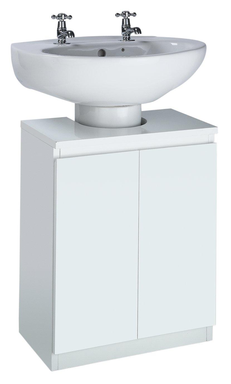 Buy Argos Home Gloss Undersink Storage   White | Bathroom Shelves And  Storage Units | Argos