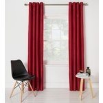 more details on Collection Ella Faux Silk Lined Curtains Set - 168x137 - Red