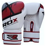 more details on RDX Synthetic 16oz Leather Boxing Gloves - Red