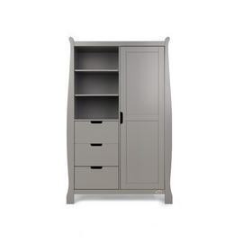 Obaby Stamford Sleigh Double Wardrobe - Taupe Grey