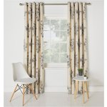 more details on Collection Aimee Floral Lined Curtains-168 x 228cm - Natural