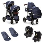 more details on Baby Elegance Cupla Duo Navy Twin Travel System.