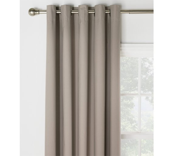 HOME Blackout Thermal Curtains   168x229cm   Cafe Mocha