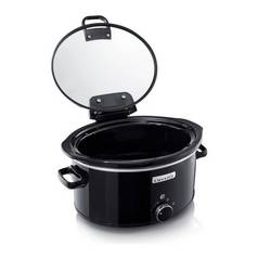 Crock-Pot 5.7L Hinged Lid Slow Cooker - Black